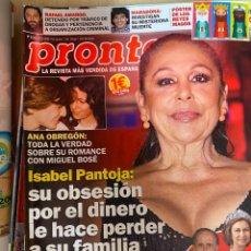 Coleccionismo de Revista Pronto: REVISTA PRONTO Nº2536 AÑO 2020 ISABEL PANTOJA / ANA OBREGON Y MIGUEL BOSE / JAIME PEÑAFIEL ETC..... Lote 244572780
