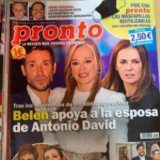 Coleccionismo de Revista Pronto: REVISTA PRONTO Nº2525 AÑO 2020 ANTONIO DAVID FLORES / MARIA JOSE CANTUDO / JAIME PEÑAFIEL ETC..... Lote 244573095
