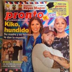 Coleccionismo de Revista Pronto: REVISTA PRONTO Nº2531 AÑO 2020 KIKO RIVERA / CHENOA / BISBAL / ISABEL PANTOJA ETC.... Lote 244573315