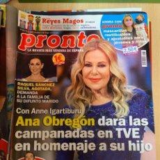 Coleccionismo de Revista Pronto: REVISTA PRONTO Nº2533 AÑO 2020 ANA OBREGON / RAQUEL SANCHEZ / ETC....... Lote 244573995