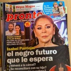 Coleccionismo de Revista Pronto: REVISTA PRONTO Nº2534 AÑO 2020 ISABEL PANTOJA / SERGIO RAMOS Y PILAR RUBIO / ETC... Lote 244574605