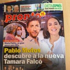 Coleccionismo de Revista Pronto: REVISTA PRONTO Nº2524 AÑO 2020 JAIME PEÑAFIEL / TAMARA FALCÓ / PABLO MOTOS / CUENTAME ETC..... Lote 244574915