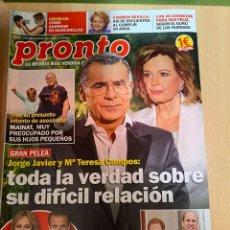Coleccionismo de Revista Pronto: REVISTA PRONTO Nº2528 AÑO 2020 HARRY / ANA OBREGON Y LEQUIO / CARMEN SEVILLA ETC..... Lote 244575675