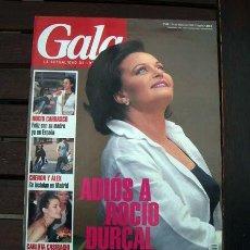 Coleccionismo de Revista Pronto: REVISTA GALA / ROCIO DURCAL, MISS ESPAÑA, AZUCAR MORENO, SHARON STONE, MARIA BARRANCO. Lote 244615140