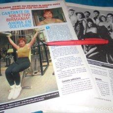 Coleccionismo de Revista Pronto: RECORTE : EL GRUPO OBJETIVO BIRMANIA. PRONTO, MAYO 1987(#). Lote 244674925