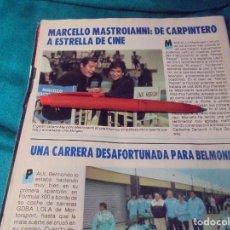Coleccionismo de Revista Pronto: RECORTE : LINA MORGAN Y MARCELLO MASTROIANNI. PRONTO, MAYO 1987(#). Lote 244705775