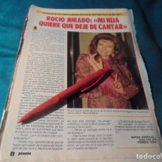 Collectionnisme de Magazine Pronto: RECORTE : ROCIO JURADO, PREGONERA DE SAN ISIDRO. PRONTO, ABRIL 1987(#). Lote 244706035