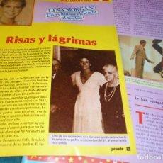 Coleccionismo de Revista Pronto: RECORTE : LINA MORGAN : CAP. 5. PRONTO, ABRIL 1987(#). Lote 244706210