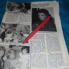Coleccionismo de Revista Pronto: RECORTE : MARIA JOSE CANTUDO. PRONTO, JUNIO 1981(#). Lote 244706595