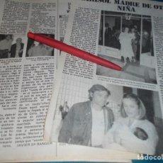 Coleccionismo de Revista Pronto: RECORTE : MARISOL, MADRE DE OTRA HIJA. PRONTO, JUNIO 1981(#). Lote 244706655