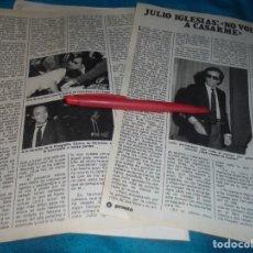 Coleccionismo de Revista Pronto: RECORTE : JULIO IGLESIAS, NO VUELVE A CASARSE. PRONTO, JUNIO 1981(#). Lote 244706725
