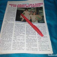 Coleccionismo de Revista Pronto: RECORTE : ROCIO JURADO, REGRESA DE AMERICA. PRONTO, JUNIO 1981(#). Lote 244706825