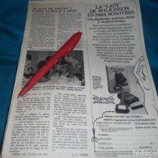 Coleccionismo de Revista Pronto: RECORTE : CHICHO IBAÑEZ SERRADOR CON SU PADRE EN CUMPLEAÑOS DE SU HIJA. PRONTO, JUNIO 1981(#). Lote 244707030