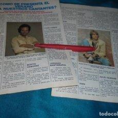 Coleccionismo de Revista Pronto: RECORTE : EL VERANO PARA LOS CANTANTES : MIGUEL BOSE. JULIO IGLESIAS. PRONTO, JUNIO 1981(#). Lote 244707195