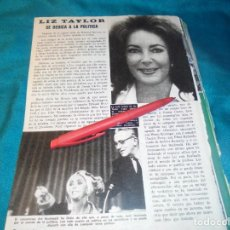 Coleccionismo de Revista Pronto: RECORTE : LIZ TAYLOR,SE DEDICA A LA POLITICA. PRONTO, SPTMBRE 1976 (#). Lote 244726240