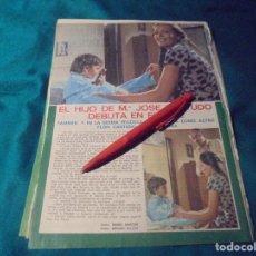 Coleccionismo de Revista Pronto: RECORTE : EL HIJO DE MARIA JOSE CANTUDO, DEBUTA EN EL CINE. PRONTO, SPTMBRE 1976 (#). Lote 244726315