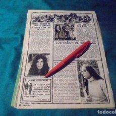 Coleccionismo de Revista Pronto: RECORTE : CECILIA.ANA BELEN. LEP ZEPPELIN. PRONTO, SPTMBRE 1976 (#). Lote 244726400