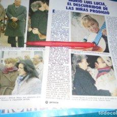 Coleccionismo de Revista Pronto: RECORTE : MUERE LUIS LUCIA. MARISOL. PRONTO, ABRIL 1984 (#). Lote 244999630