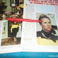 Coleccionismo de Revista Pronto: RECORTE : LA VIUDA DE FELIX RODRIGUEZ DE LA FUENTE. PRONTO, ABRIL 1984 (#). Lote 244999890