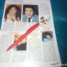 Coleccionismo de Revista Pronto: RECORTE : PELEA DE ANA OBREGON CON PEPE NAVARRO. PRONTO, ABRIL 1984 (#). Lote 244999995