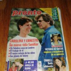 Coleccionismo de Revista Pronto: AÑO 1997 1337 CHABELI CARMEN JANEIRO MAR FLORES ANA OBREGON ANDRÉS PAJARES PADRE APELES EVA COBO. Lote 245167585