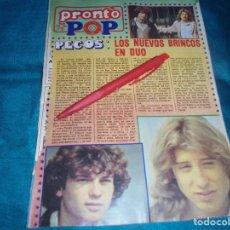 Coleccionismo de Revista Pronto: RECORTE : EL DUO LOS PECOS. PRONTO, ENERO 1979(#). Lote 245367980