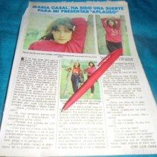 Coleccionismo de Revista Pronto: RECORTE : MARIA CASAL. PRONTO, MAYO 1981(#). Lote 245368840
