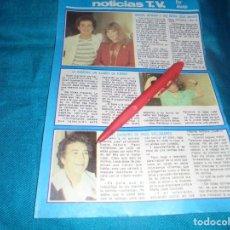 Coleccionismo de Revista Pronto: RECORTE : BLANCA ESTRADA. PRONTO, MAYO 1981(#). Lote 245369000