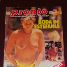 Coleccionismo de Revista Pronto: PRONTO NÚM 771. ESTEFANIA - RICHARD CHAMBERLAIN - ISABEL PANTOJA + PÓSTER JAMES READ.. Lote 246068885