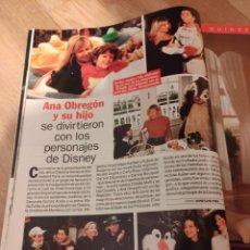 Coleccionismo de Revista Pronto: ANA OBREGÓN Y SU HIJO ALEX RECORTE REVISTA PRONTO 1998. Lote 246190630