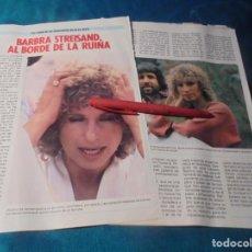 Coleccionismo de Revista Pronto: RECORTE : BARBRA STREISAND, AL BORDE DE LA RUINA. PRONTO, SPTBRE 1985(#). Lote 246290990
