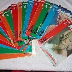Coleccionismo de Revista Pronto: COLECCIONABLE COMPLETO DE PRONTO, 20 FASCICULOS, ASI VIVIO MARILYN MONROE, SERIE GRANDES VIDAS.. Lote 246732410