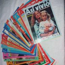Coleccionismo de Revista Pronto: COLECCIONABLE COMPLETO DE PRONTO, 24 FASCICULOS, ASI VIVIÓ ROMY SCHNEIDER, SERIE GRANDES VIDAS.. Lote 246733890