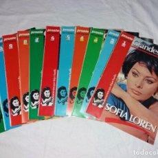 Coleccionismo de Revista Pronto: COLECCIONABLE COMPLETO DE PRONTO, 11 FASCICULOS, GRANDES VIDAS. SOFIA LOREN.. Lote 246735685