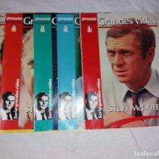 Coleccionismo de Revista Pronto: COLECCIONABLE COMPLETO DE PRONTO, 5 FASCICULOS, GRANDES VIDAS. STEVE MCQUEEN. Lote 246739050