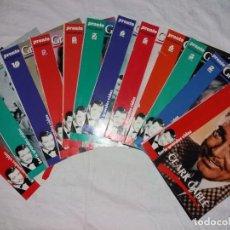 Coleccionismo de Revista Pronto: COLECCIONABLE COMPLETO DE PRONTO, 12 FASCICULOS, GRANDES VIDAS. CLARK GABLE. Lote 246740275