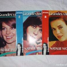 Coleccionismo de Revista Pronto: COLECCIONABLE COMPLETO DE PRONTO, 3 FASCICULOS, GRANDES VIDAS. NATALIE WOOD. Lote 246741330