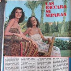 Collectionnisme de Magazine Pronto: RECORTE REVISTA PRONTO N.º 352 1979 LAS BACCARA SE SEPARAN. Lote 251942350