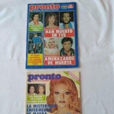 Coleccionismo de Revista Pronto: REVISTA PRONTO NO.558 Y 559,1983 POSTER MIGUEL BOSÉ,AL CORLEY. Lote 253096225