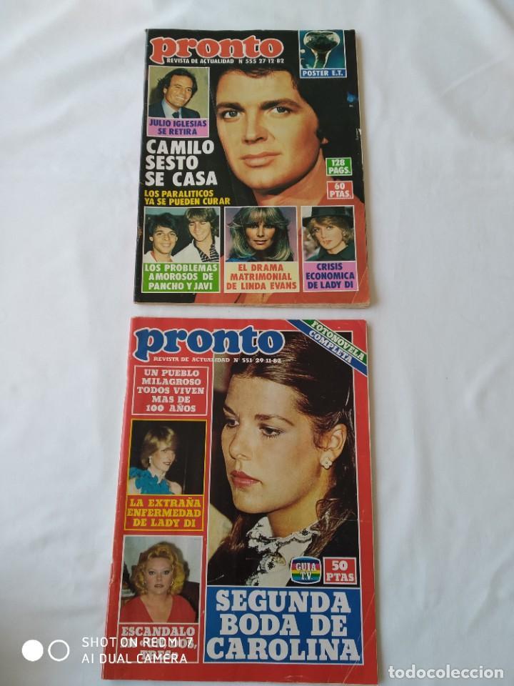 2X REVISTA PRONTO NO.551 Y 555 1982, POSTER E.T (Papel - Revistas y Periódicos Modernos (a partir de 1.940) - Revista Pronto)