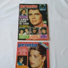 Coleccionismo de Revista Pronto: 2X REVISTA PRONTO NO.551 Y 555 1982, POSTER E.T. Lote 253097420