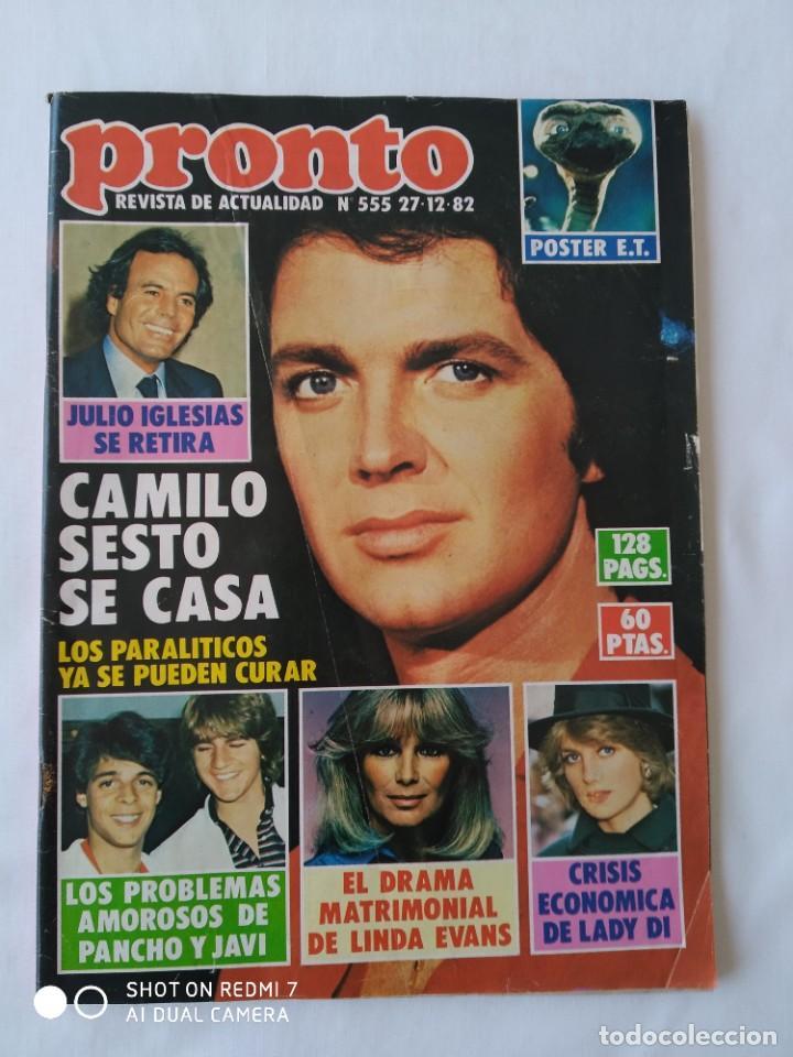 Coleccionismo de Revista Pronto: 2x Revista Pronto no.551 y 555 1982, poster E.T - Foto 6 - 253097420