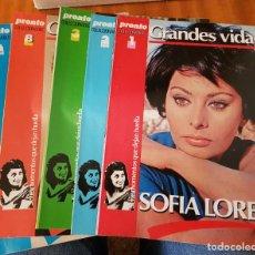 Coleccionismo de Revista Pronto: LOTE 5 FASCÍCULOS PRONTO COLECCIONABLE - GRANDES VIDAS - SOFÍA LOREN. Lote 253182685