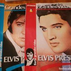 Coleccionismo de Revista Pronto: LOTE 2 FASCÍCULOS PRONTO COLECCIONABLE - GRANDES VIDAS - ELVIS PRESLEY. Lote 253237210