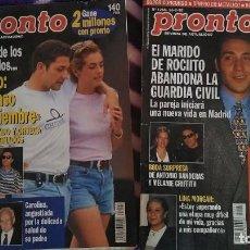 Coleccionismo de Revista Pronto: 2 REVISTAS DE PRONTO AÑO 1996 CON LA HISTORIA DE ROCIITO Y ANTONIO DAVID FLORES. Lote 253364360