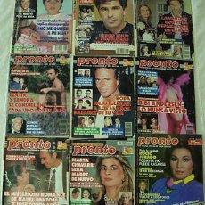 Colecionismo da Revista Pronto: LOTE DE 9 REVISTAS PRONTO 1986-1994 BIBI ANDERSEN ROCIO JURADO ISABEL PANTOJA BERTIN OSBORNE. Lote 253672105