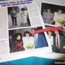 Collectionnisme de Magazine Pronto: RECORTE : MARIA CASAL SE HA CASADO. PRONTO, ABRIL 1984(#). Lote 253779305