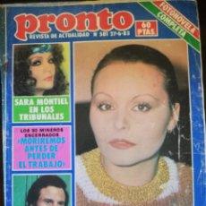 Collectionnisme de Magazine Pronto: REVISTA PRONTO 581 ROCÍO DÚRCAL SARA MONTIEL JEANETTE MARÍA JIMÉNEZ MARISOL MIGUEL BOSÉ MISS ESPAÑA. Lote 253811790
