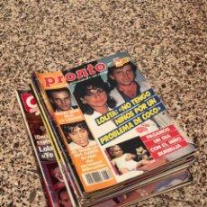 Collectionnisme de Magazine Pronto: LOTE 18 REVISTAS AÑOS 80 PRONTO Y GARBO. Lote 254272800