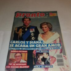 Coleccionismo de Revista Pronto: PRONTO NÚM 907. CARLOS Y DIANA / MANOLO ESCOBAR / RUIZ MATEOS / SUPER POP..... Lote 257579350